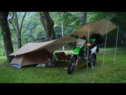 「静かな森で」 ソロキャンプツーリング!solo camping!
