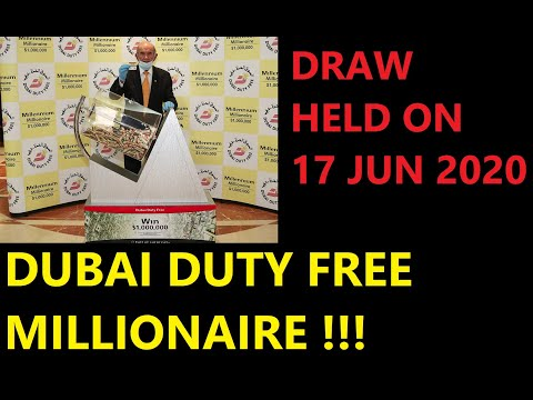 Dubai Duty Free Millionaire Raffle Draw 17 June 2020: $1 Million Won By A Mauritanian National