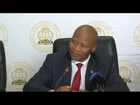 Chief Justice Mogoeng Mogoeng briefs media