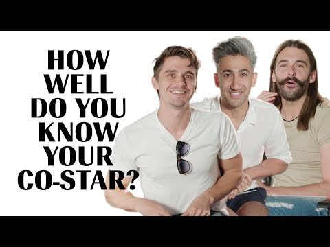 The Cast of Queer Eye Play 'How Well Do You Know Your Co-Star' Marie Claire