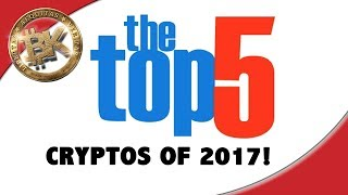 TOP 5 CRYPTOS OF 2017!! Bitcoin Price 1938 Cryptocurrency Stock Chart Technical Analysis BTC ETH ANS