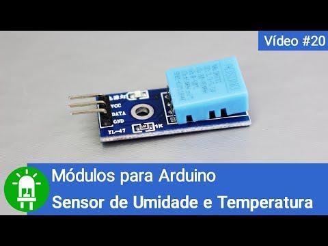 Sensor De Umidade E Temperatura DHT11 - Módulos Para Arduino - Vídeo 20