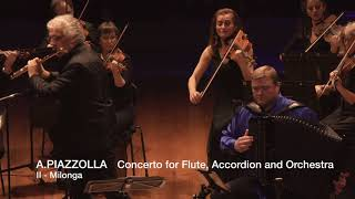 ASTOR PIAZZOLLA - CONCERTO FOR FLUTE, ACCORDION AND ORCHESTRA