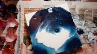 (Talking) Failed Dutch Acrylic Pour Turned into Ring Pour l BONUS Pour Double Ring Acrylic Pour