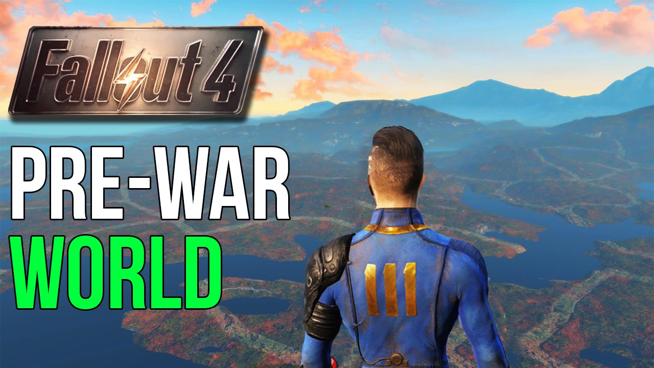 Fallout PREWAR WORLD Exploration Outside Map YouTube - Us nuclear war fallout map