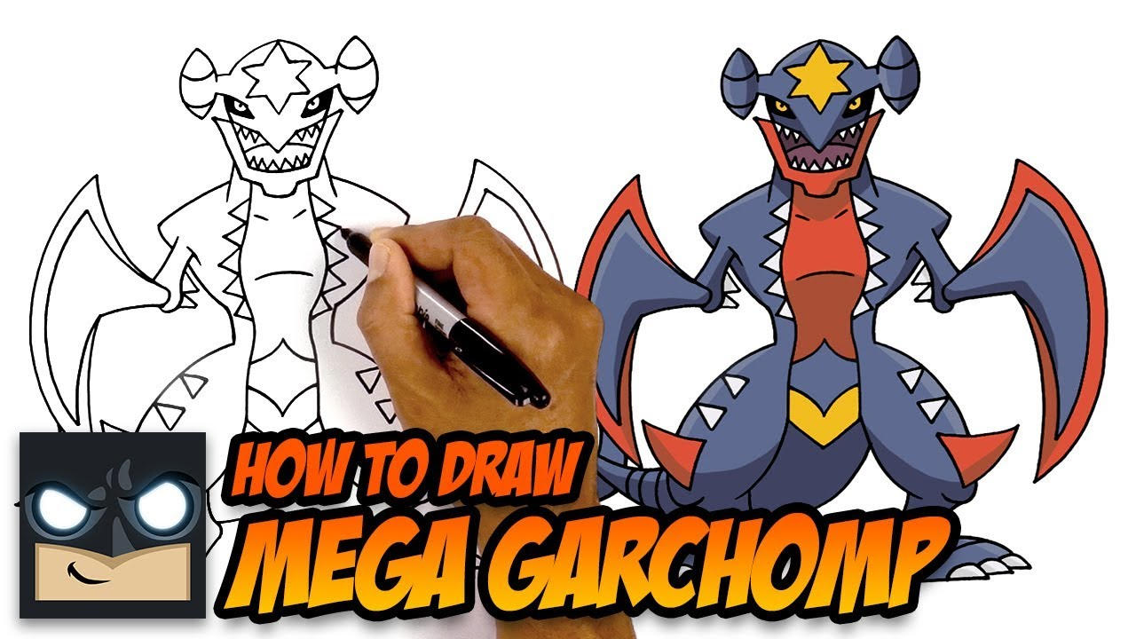How To Draw Pokemon | Mega Garchomp