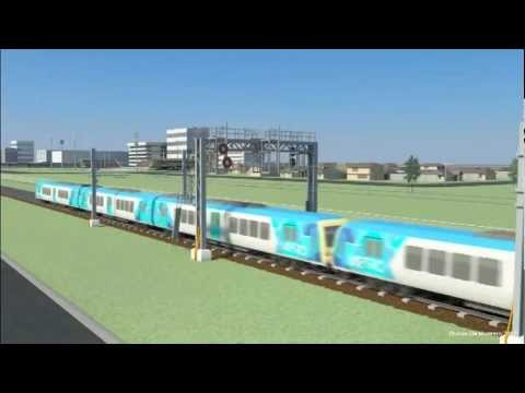 Railway Signalling in 3D - Train Stop