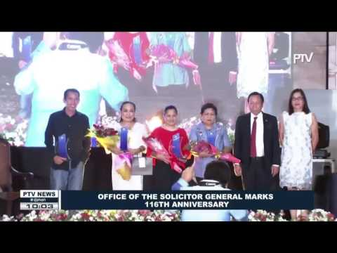 Office of the Solicitor general marks 116th Anniversary