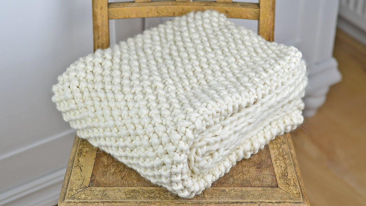 wolldecke plaid blanket stricken vorstellung eines strickkit von we are knitters