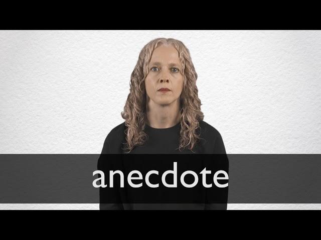 personal anecdote definition