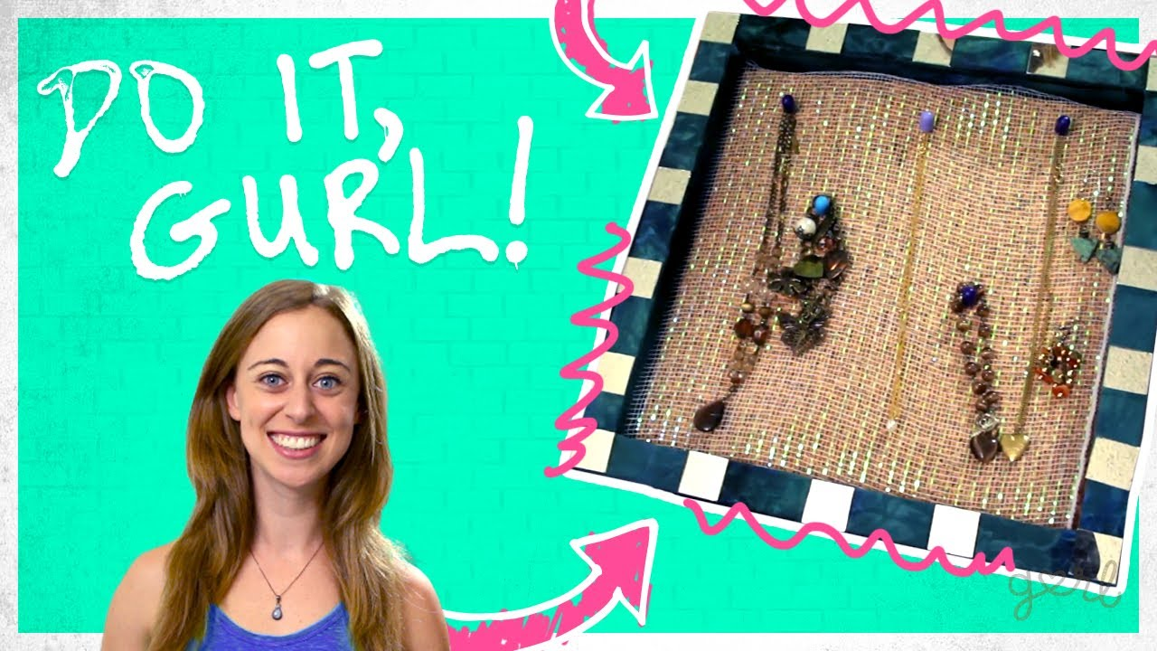 DIY WallHanging Jewelry Organizer Do It Gurl YouTube