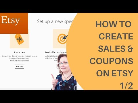 [ETSY] How to create sales & coupons in your Etsy shops tutorial