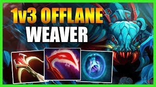 WHAT HAPPENS WHEN A DIVINE PLAYER PLAYS 1v3 AS WEAVER IN THE OFFLAN...