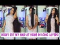 HOW I CUT MY HAIR AT HOME IN LONG LAYERS   Straight Hair   Youtube inspired