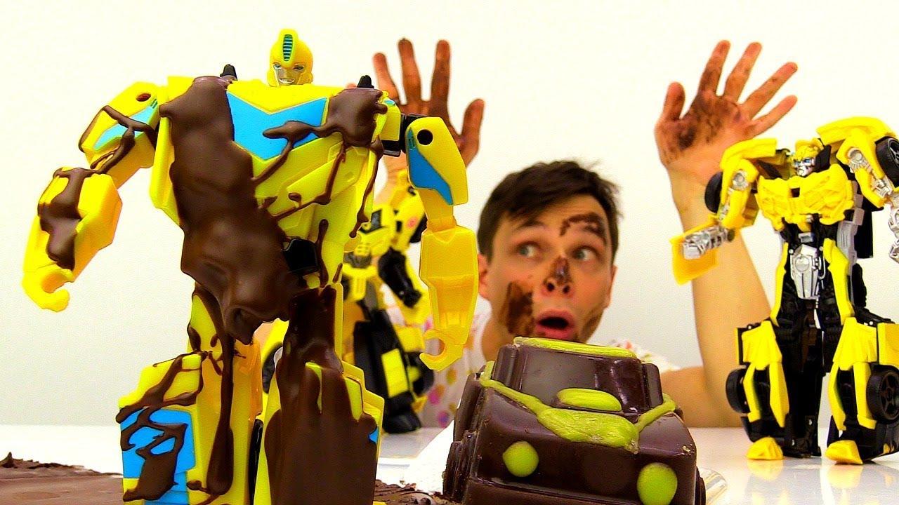 Делаем шоколадного Бамблби. Фёдор и Трансформеры на Фабрике Шоколада.