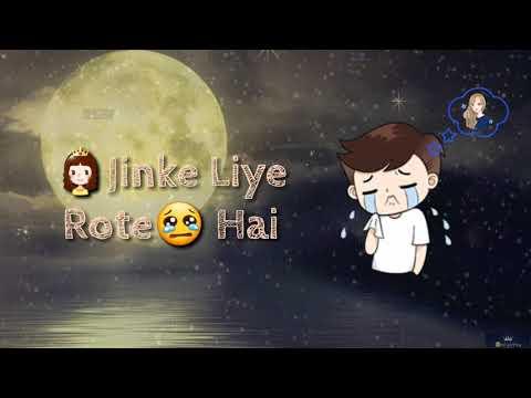 Raaton Ko Uth Uth Kar Jinke Liye Rote Hain || Old Hindi || Romantic Love Status Video || Lyrics