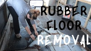 Flooring Removal | Bus Conversion Update Vlog