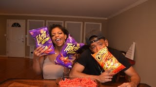 HOT CHEETOS & TAKIS CHALLENGE