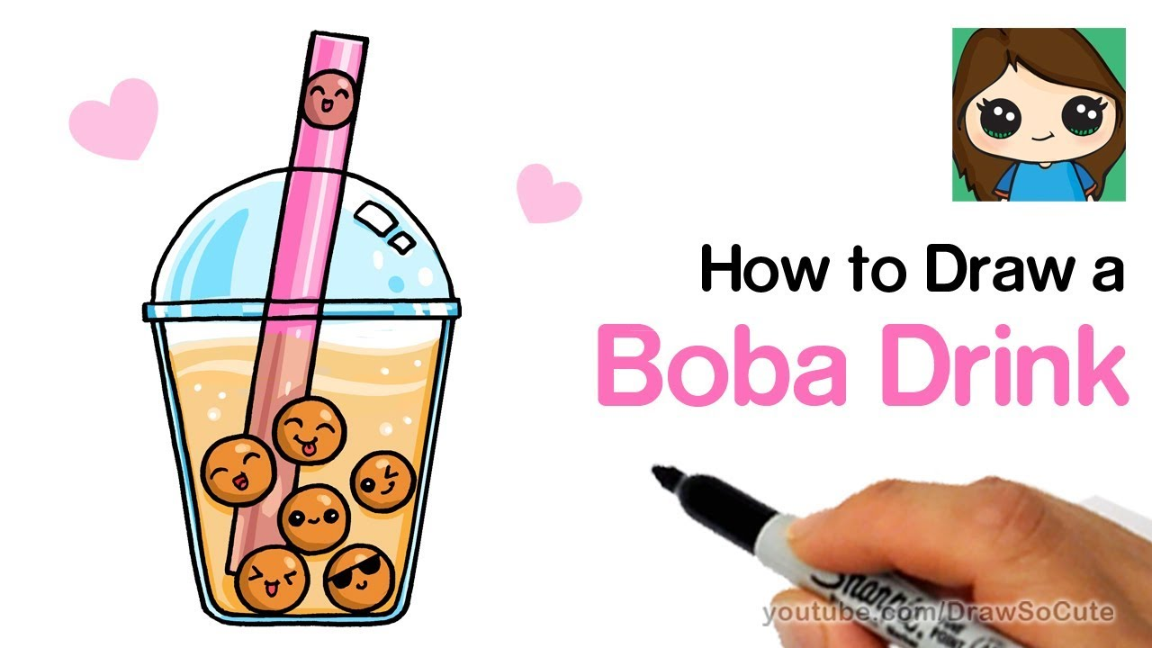 It is a picture of Agile Boba Tea Drawing