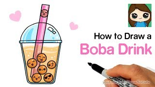 How to Draw a Boba Drink Cute and Easy