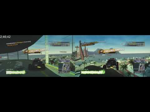 Big Surf Island Online% 2p 5:22.50 Split Screen W/ KILLERCAR123 - Burnout Paradise Remastered PS4