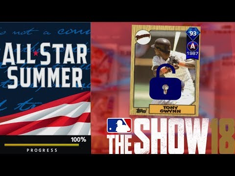 How To Unlock Tony Gwynn All Star Summer Program Tips! MLB The Show 18 Diamond Dynasty