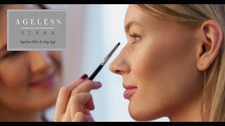 How to apply Ageless Derma Pressed Mineral Eyeshadow