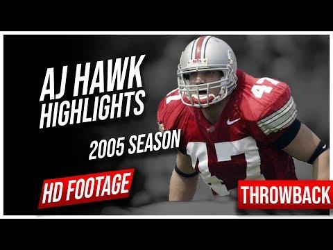 AJ Hawk Ohio State 2005 Season Highlights || Throwback Highlights