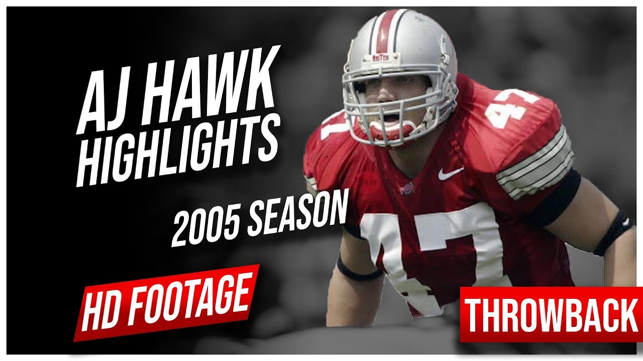 brand new 6bed8 c8ef0 AJ Hawk Ohio State 2005 Season Highlights || Throwback Highlights