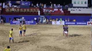 激闘のビーチサッカー日本代表 vs ブラジル代表/Japan vs Brazil in Dubai