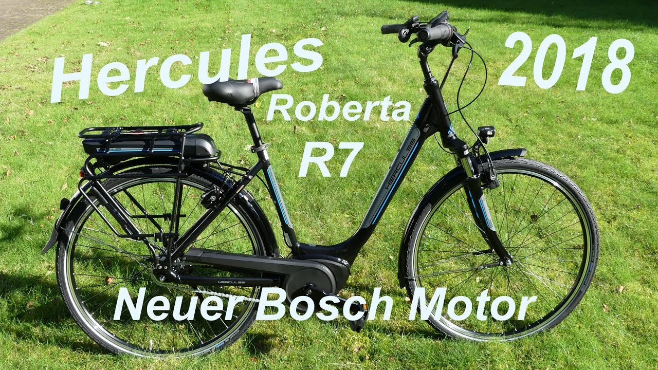 hercules e bike roberta r7 modell 2018 mit neuem bosch. Black Bedroom Furniture Sets. Home Design Ideas