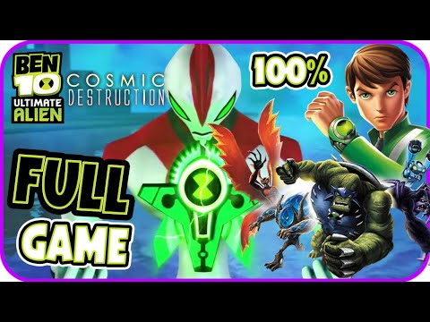 Ben 10 Cosmic Destruction Walkthrough 100% FULL GAME Movie Longplay (PS3, X360, PS2, PSP, Wii)