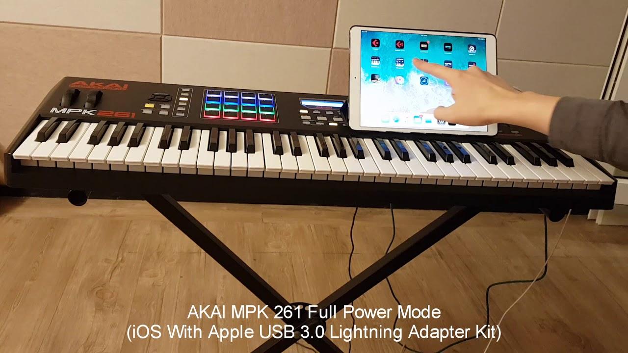 AKAI MPK261 Full Power Mode With Apple iPad Pro