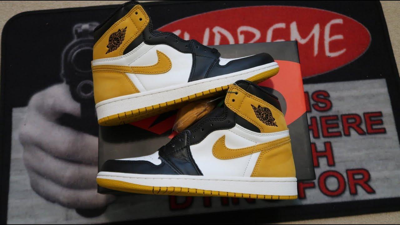 ddbca68995e Air Jordan 1 Retro High OG 'Yellow Ochre' Sneaker Unboxing