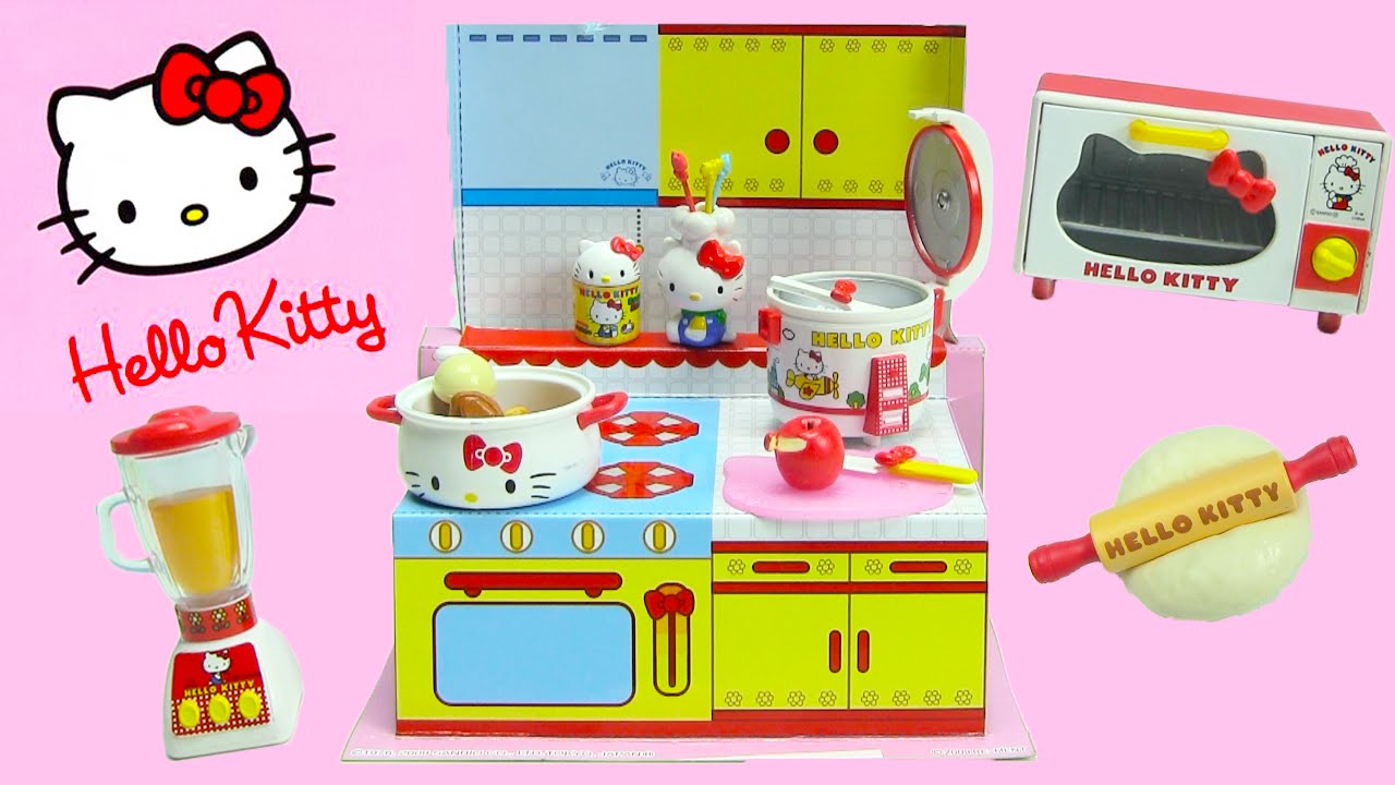 Hello Kitty Toy Food : Hello kitty happy kitchen rement collectibles youtube