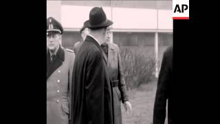 CAN 057NATO SECRETARY GENERAL STIKKER VISITS HELMSTEDT BORDER CROSSING IN WEST GERMANY