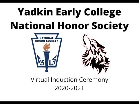 Yadkin Early College NHS Induction Ceremony 2021