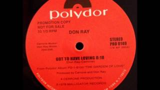 Don Ray - Got to have loving (12 inch) (1978) Vinyl