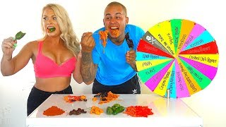 Download Mystery Wheel of WORLD'S HOTTEST PEPPERS Challenge! * GHOST PEPPERS * CAROLINA REAPERS * HOT CHEETOS Mp3 and Videos