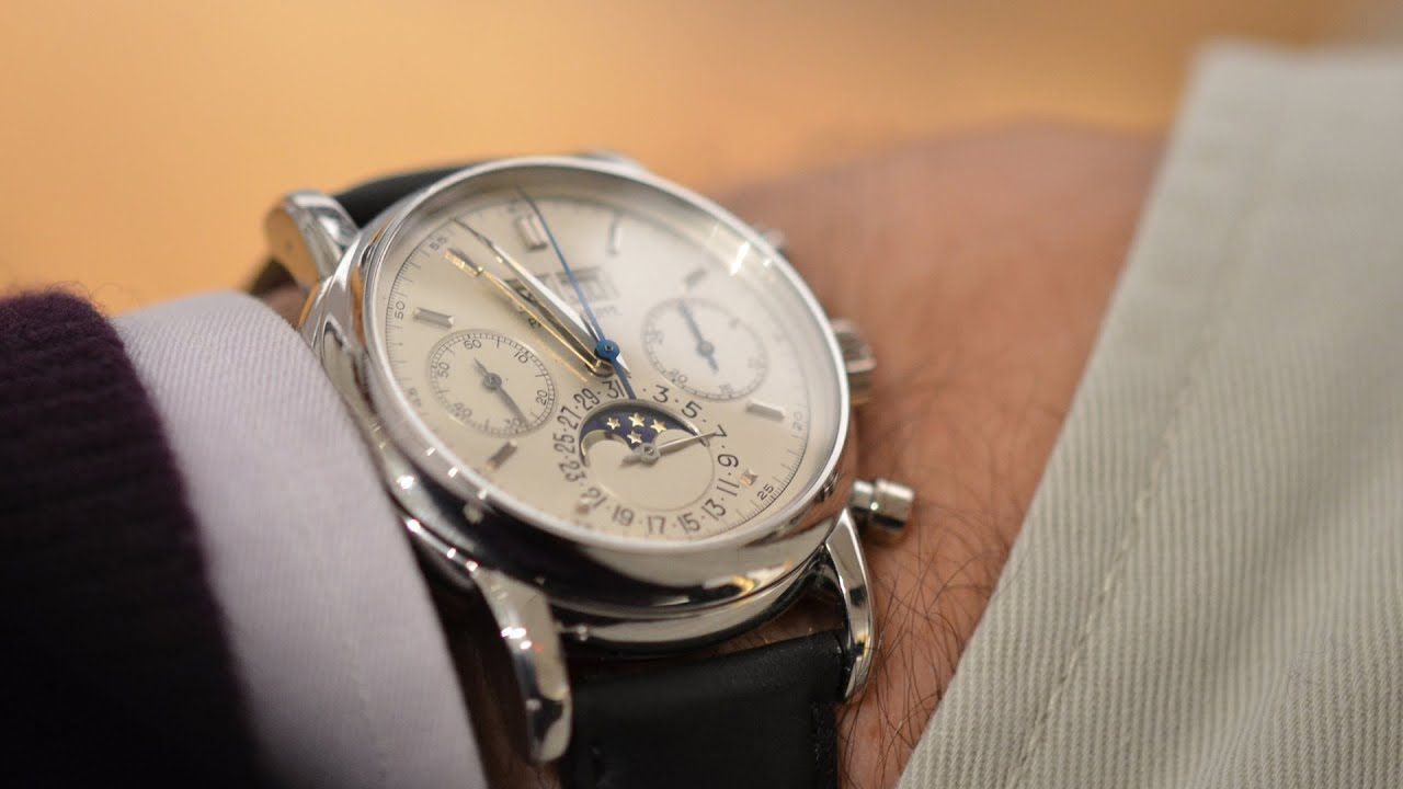 Up Close With The Patek Philippe Platinum 2499 Owned By Eric Clapton -  YouTube