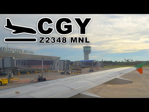 Landing at Laguindingan Airport CGY | ZEST AIR FLT Z2 348