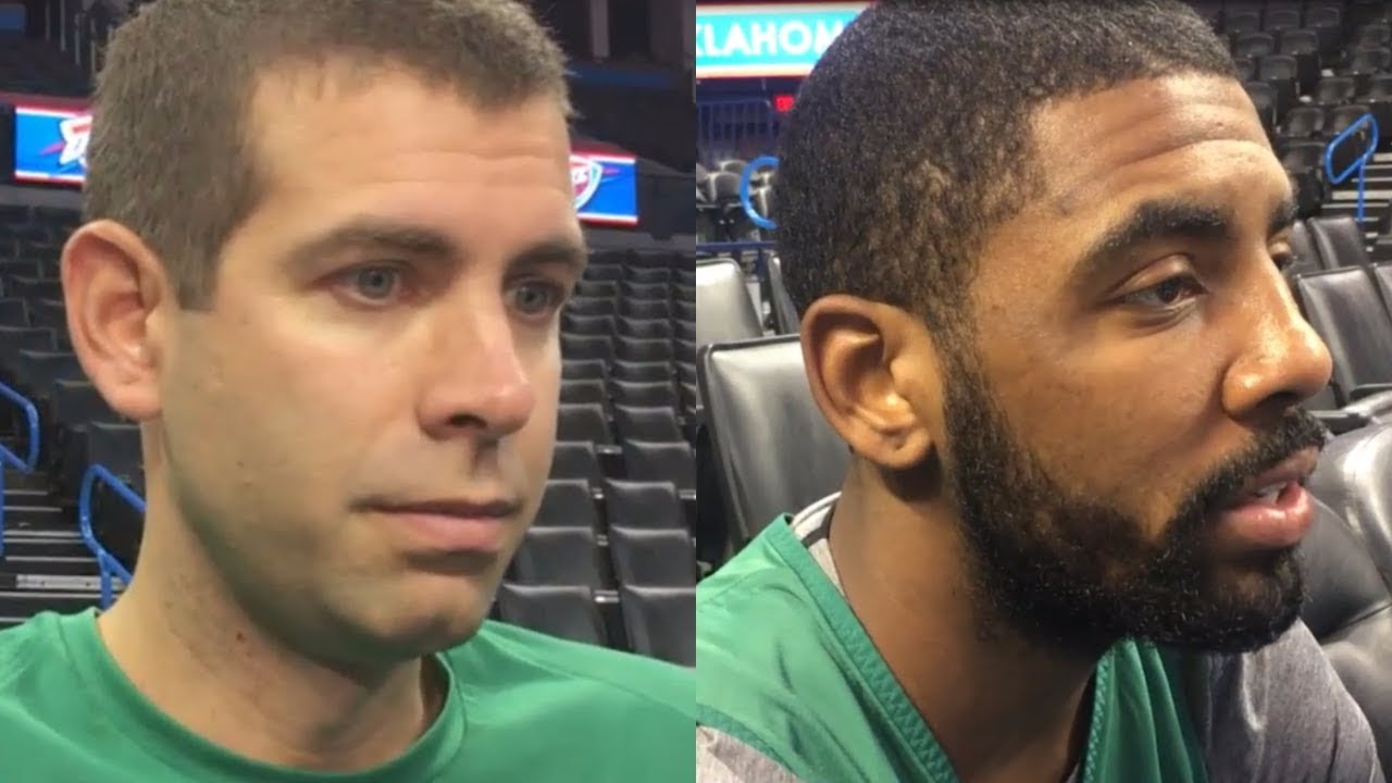 Brad Stevens and Kyrie Irving look ahead to Celtics vs. Thunder | ESPN