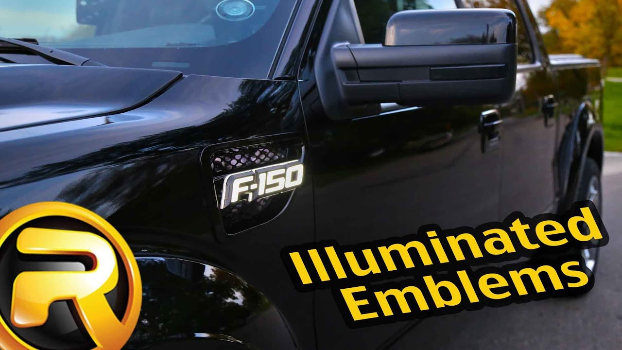 recon illuminated fender emblems f150 f250 f350 fast facts youtube Blue Ford Symbol at Illuminated Emblems Ford Wiring Diagram