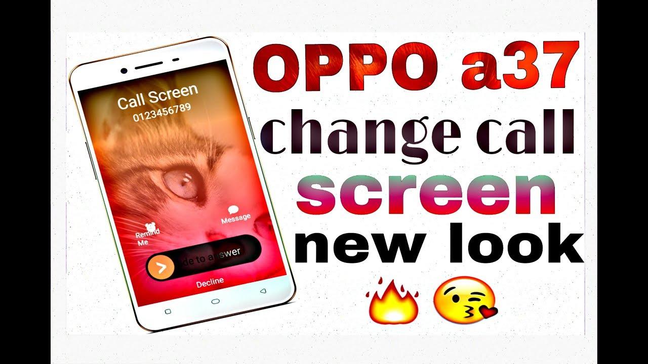 Oppo A3s android phone ke Caller screen me photos kaise