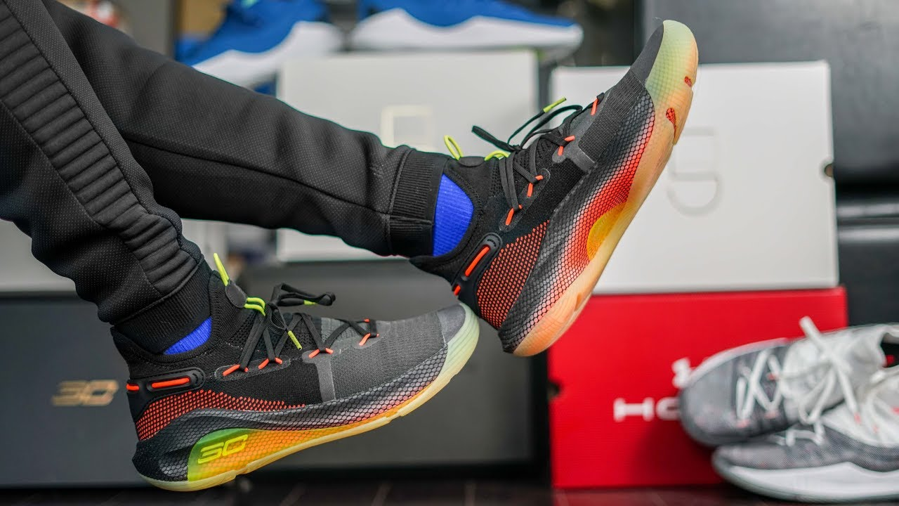 quality design a130d bc42b UNDER ARMOUR'S GREATEST BALL SHOE YET | UA CURRY 6 FOX THEATER ON FEET  REVIEW