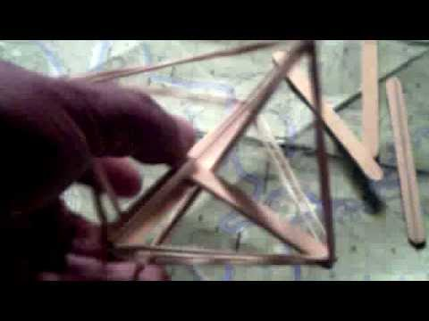 How To Build A Basic Tensegrity Model Octahedrone Like Youtube