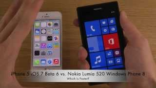 iphone 5 ios 7 beta 6 vs nokia lumia 520 windows phone 8 which is faster