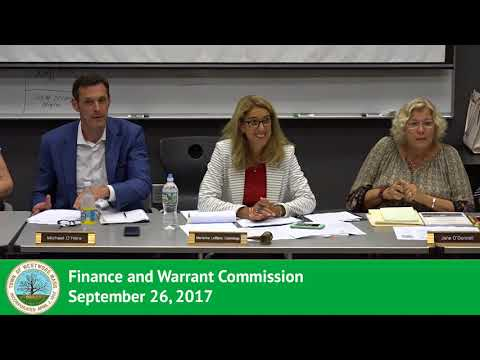 Finance and Warrant Commission - 09/26/2017