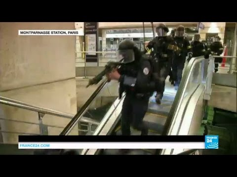 France terror threat: Special forces carry out drill in Paris train station