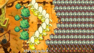 Pvz 2 - Cabbage Pult and Banana Launcher vs all Zombies
